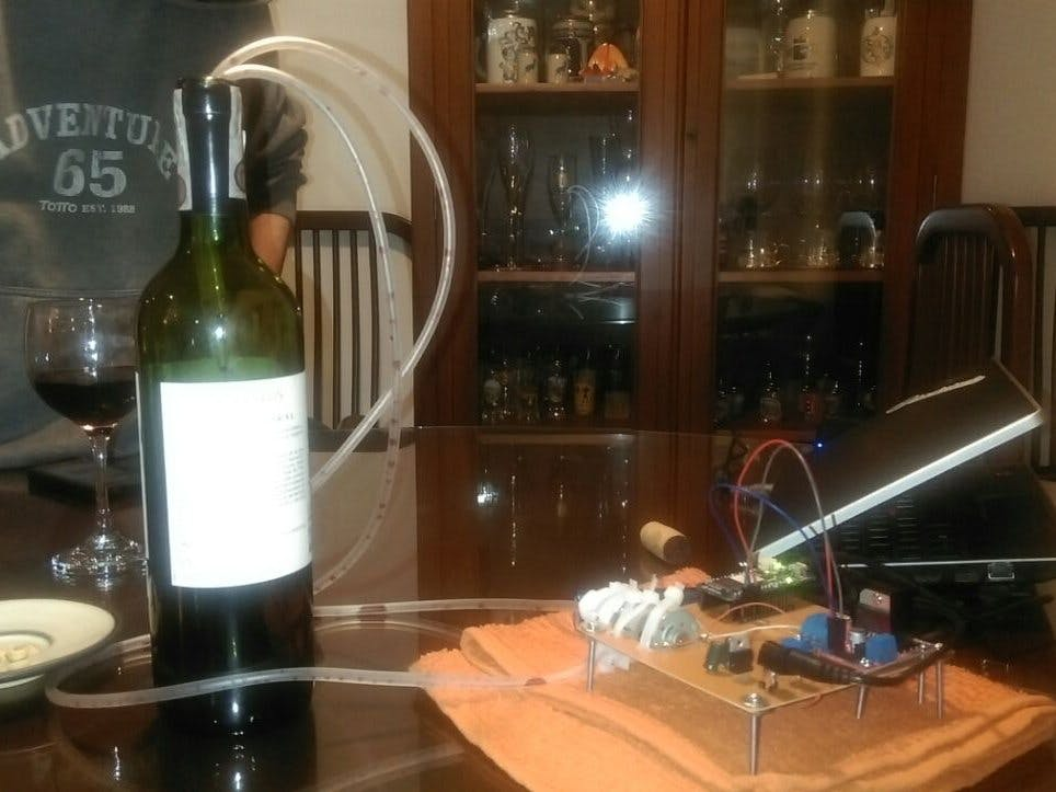 IoT Wine-Tender-Arduino MKR1000! Internet of Holidays Things