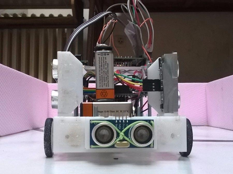 Arduino robot poliardo maze solver hackster