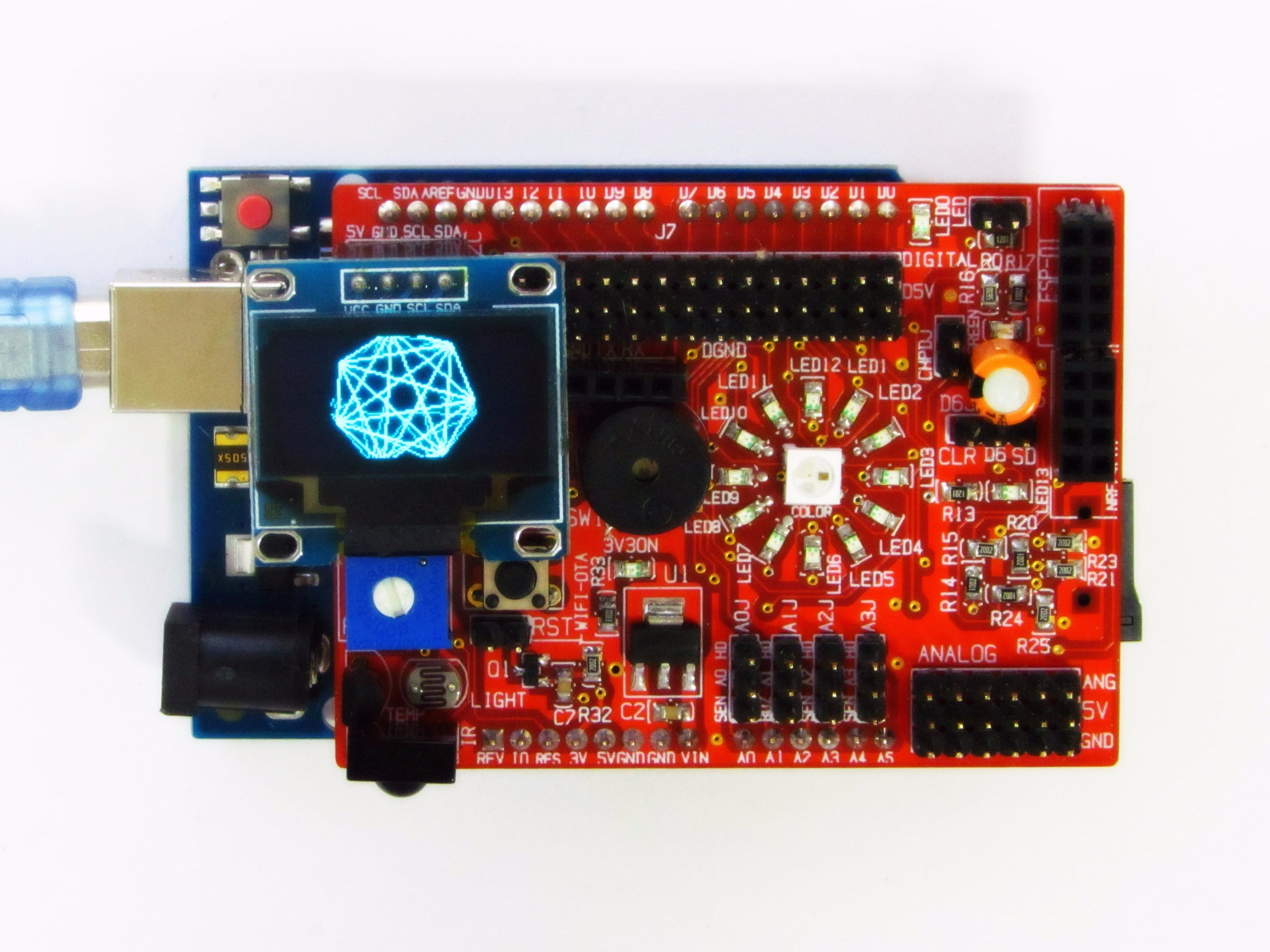 Animation in I2C OLED Display with idiotware shield
