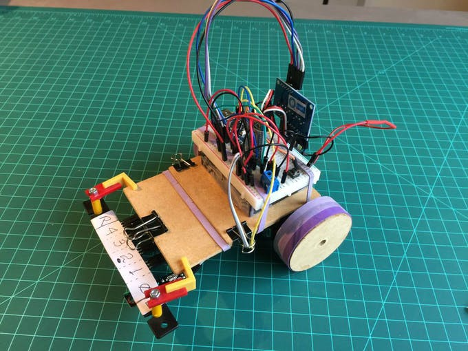 Line follower robot pid control android setup