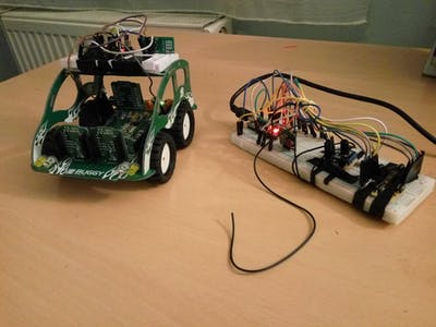 Rf controlled buggy