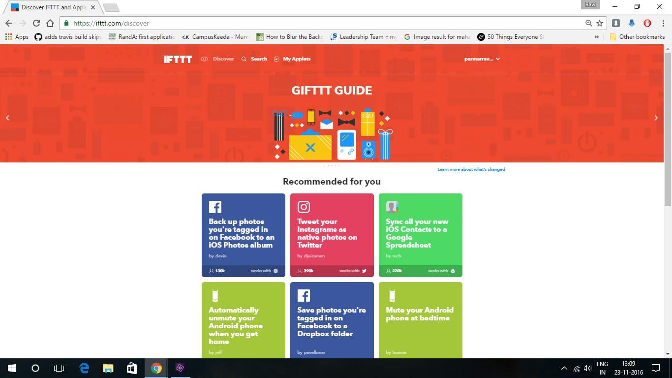Step1: visit the IFTTT.com website
