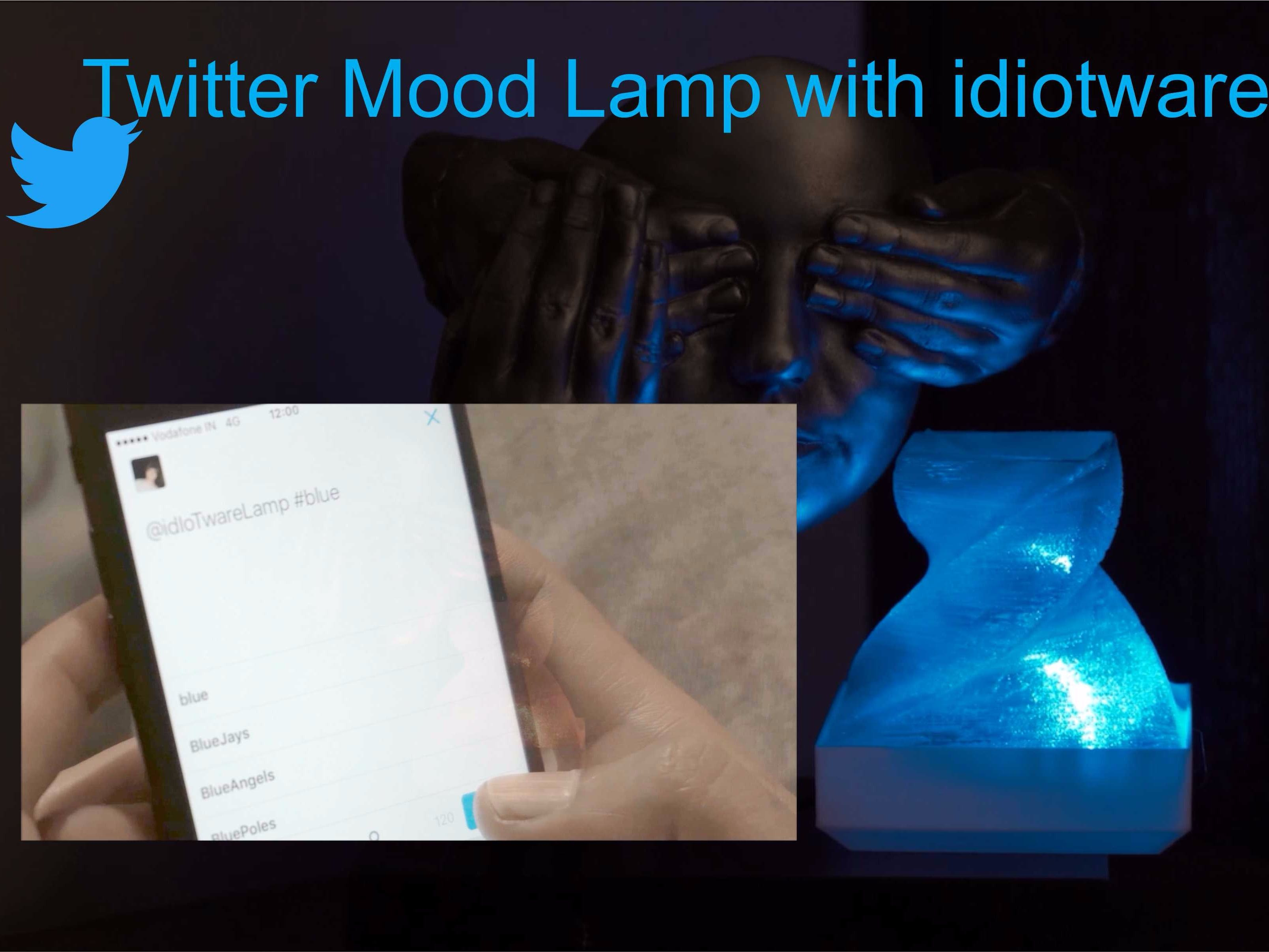 Twitter Mood Lamp with idiotware shield