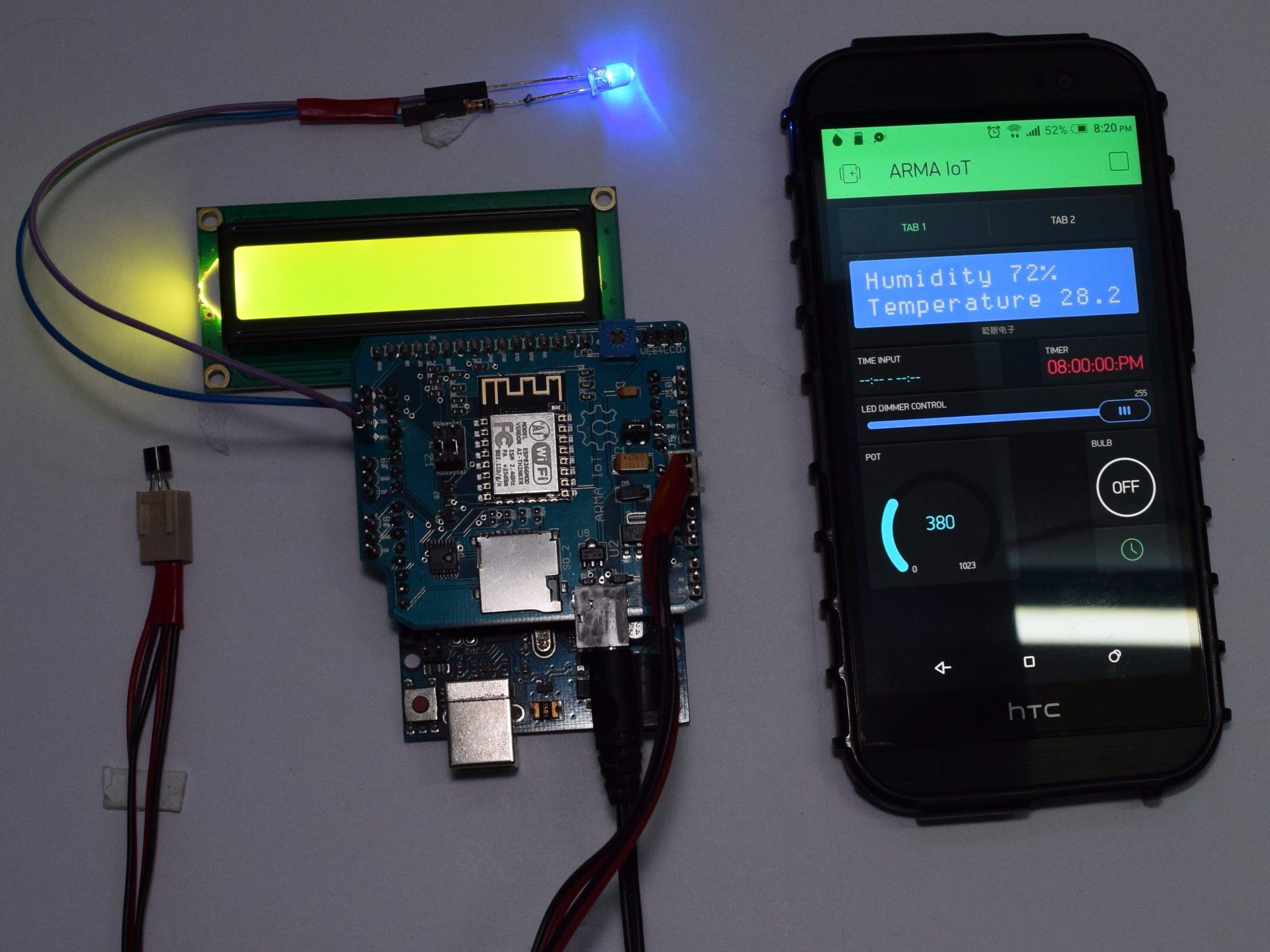 Interfacing ARMA IoT with Blynk