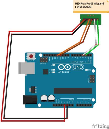 Hid prox rfid to arduino project hub
