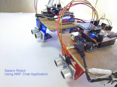 Swarm Robot Using NRF Chat Application