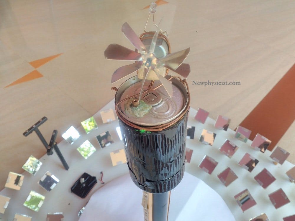 Make Mini Solar Power Plant (Concentrated Sun Light)