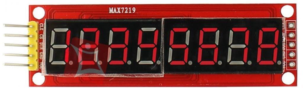 Maxi 7219 Display (8 Digits x 7 Segments)