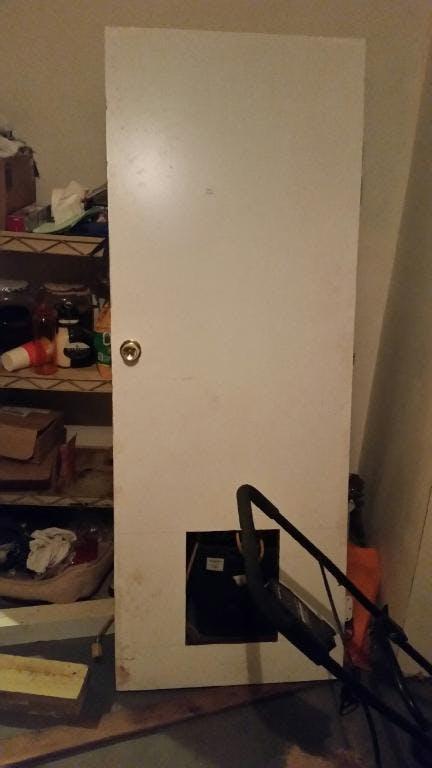 Door After Initial Cut