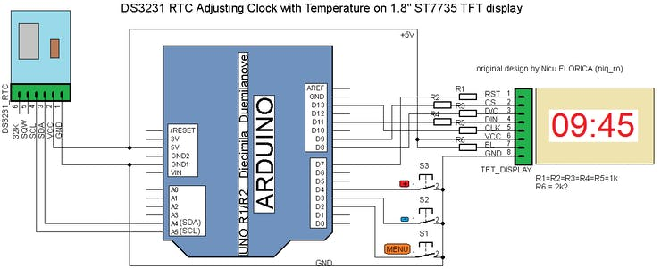 Adjusting Dual Clock using DS3231 on 1 8