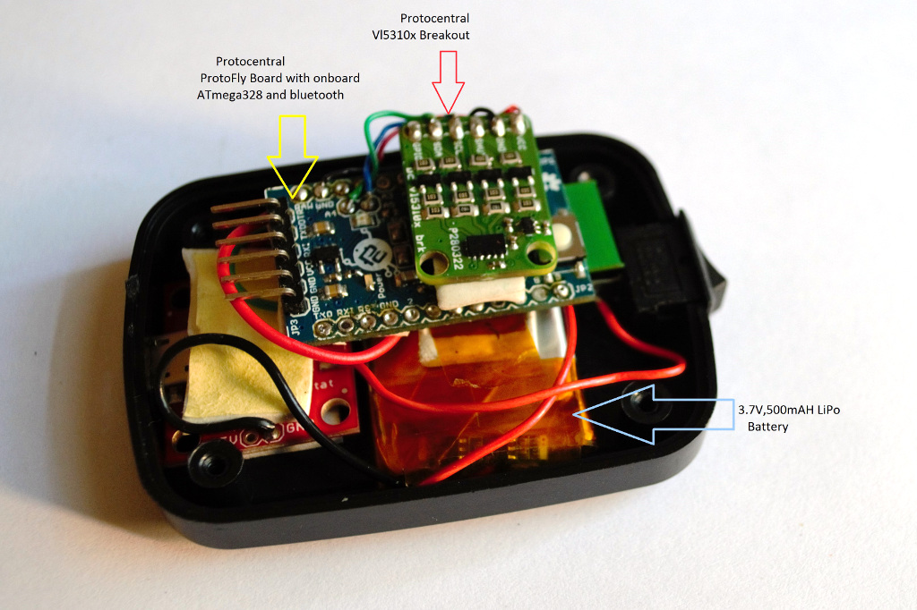 Liquid level sensing using a laser tof sensor arduino project hub
