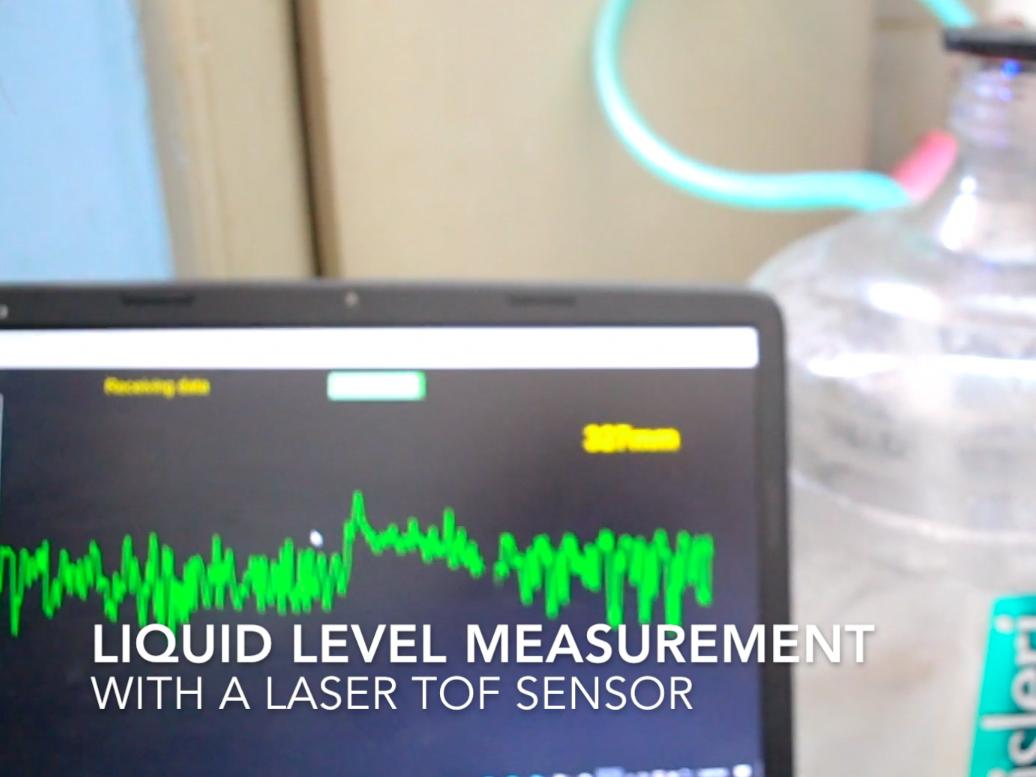 Laser Entfernungsmesser Sensor : Liquid level sensing using a laser tof sensor hackster