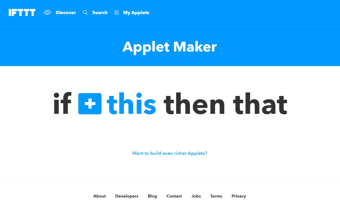 Begin by creating a new applet