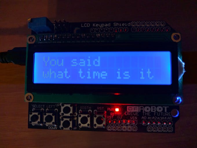 Recognized words will appear on the LCD !
