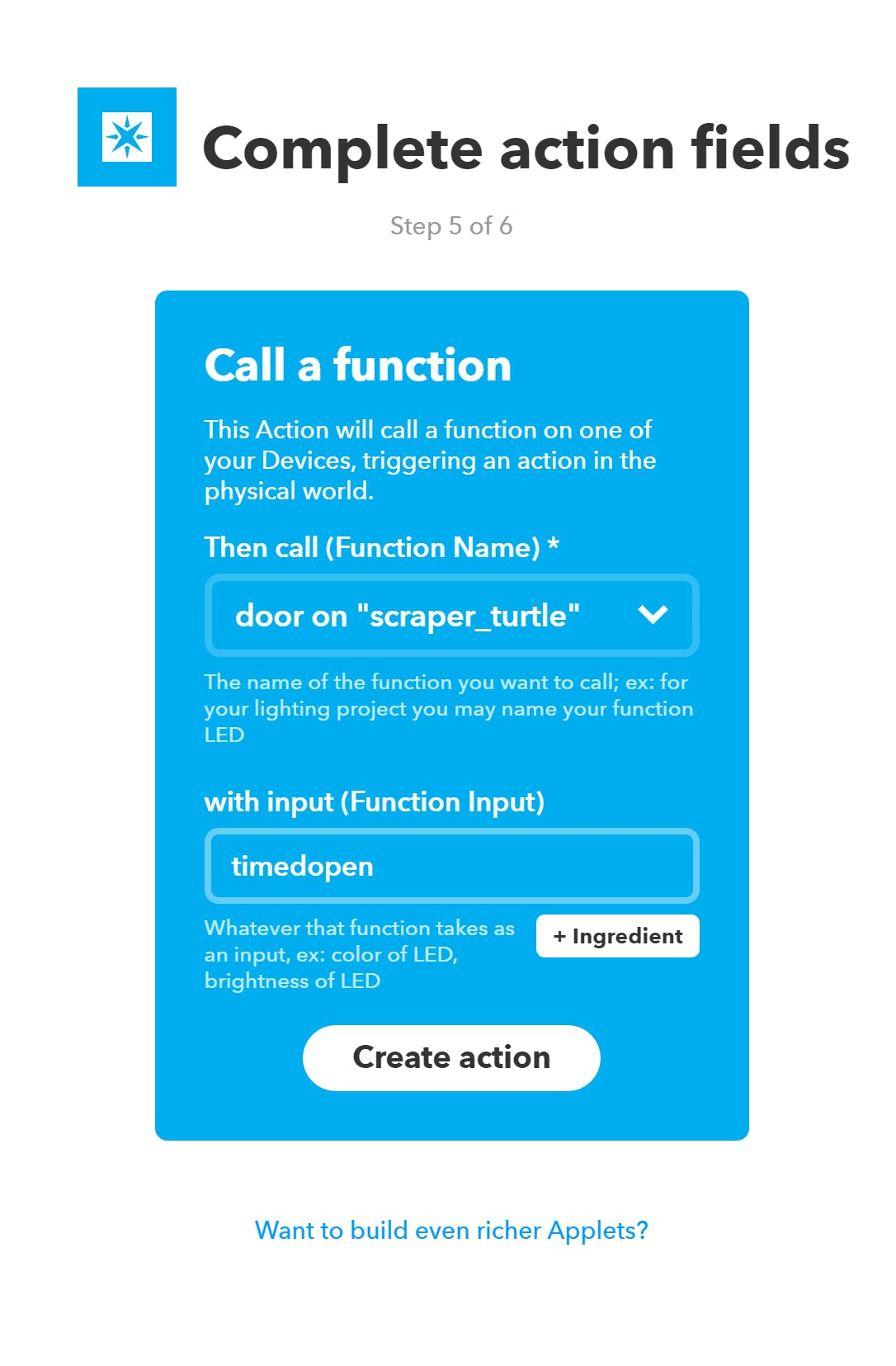 Call the timedopen function that will automatically close after a delay
