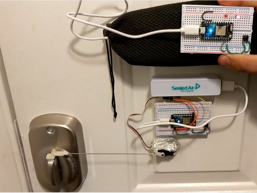 App And Remote Controlled Servo Door Lock