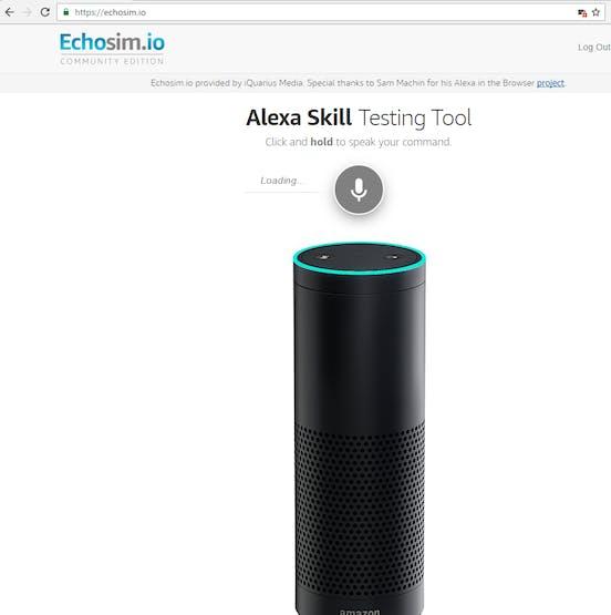 Tested on echosim.io, Amazon Alexa skill testing tool, Lambda
