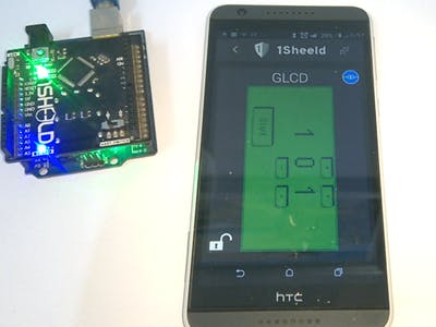 Countdown timer using GLCD shield
