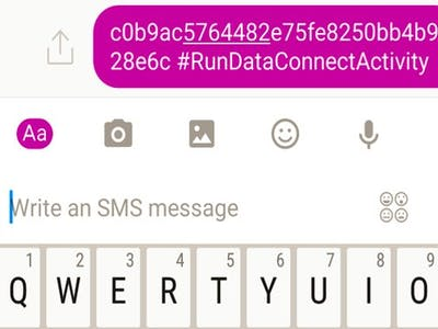 Run an IBM Data Connection Activity via SMS