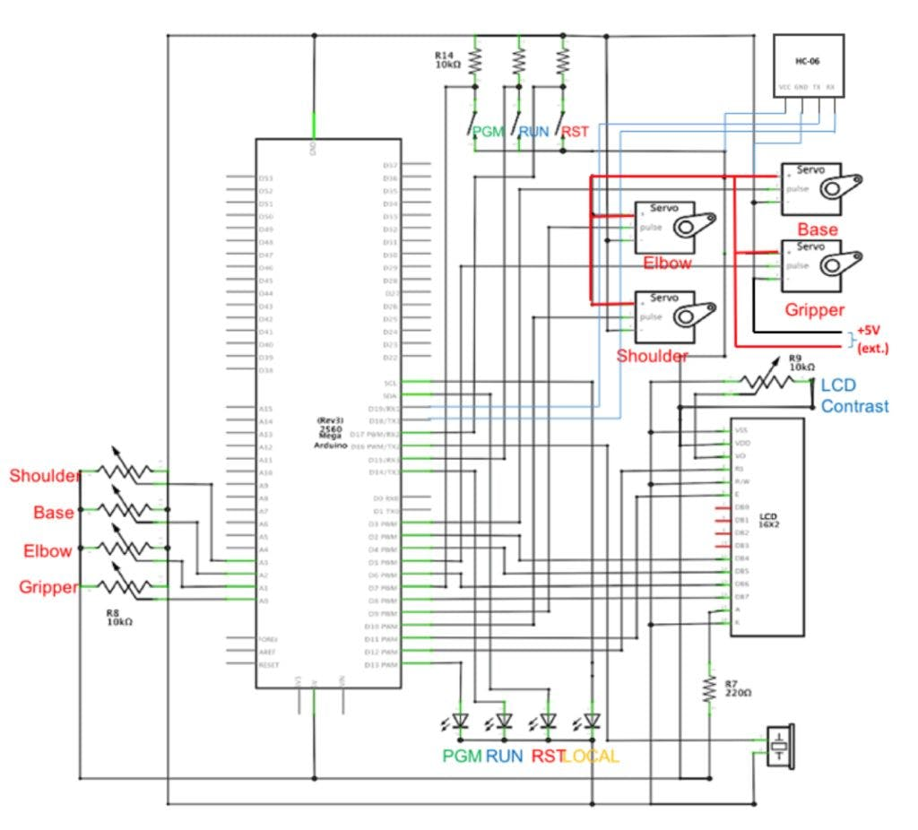Local And Remote Programmable Robotic Arm Lowcost Power Buzzer Circuit Diagram Centre