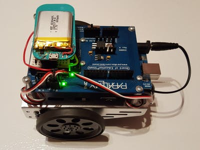 Web-controlled BoE-Shield Robot with the LightBlue Bean[+]