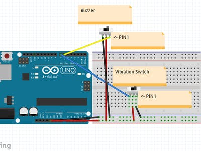 BeatBot using Arduino with Vibration Switch and Buzzer