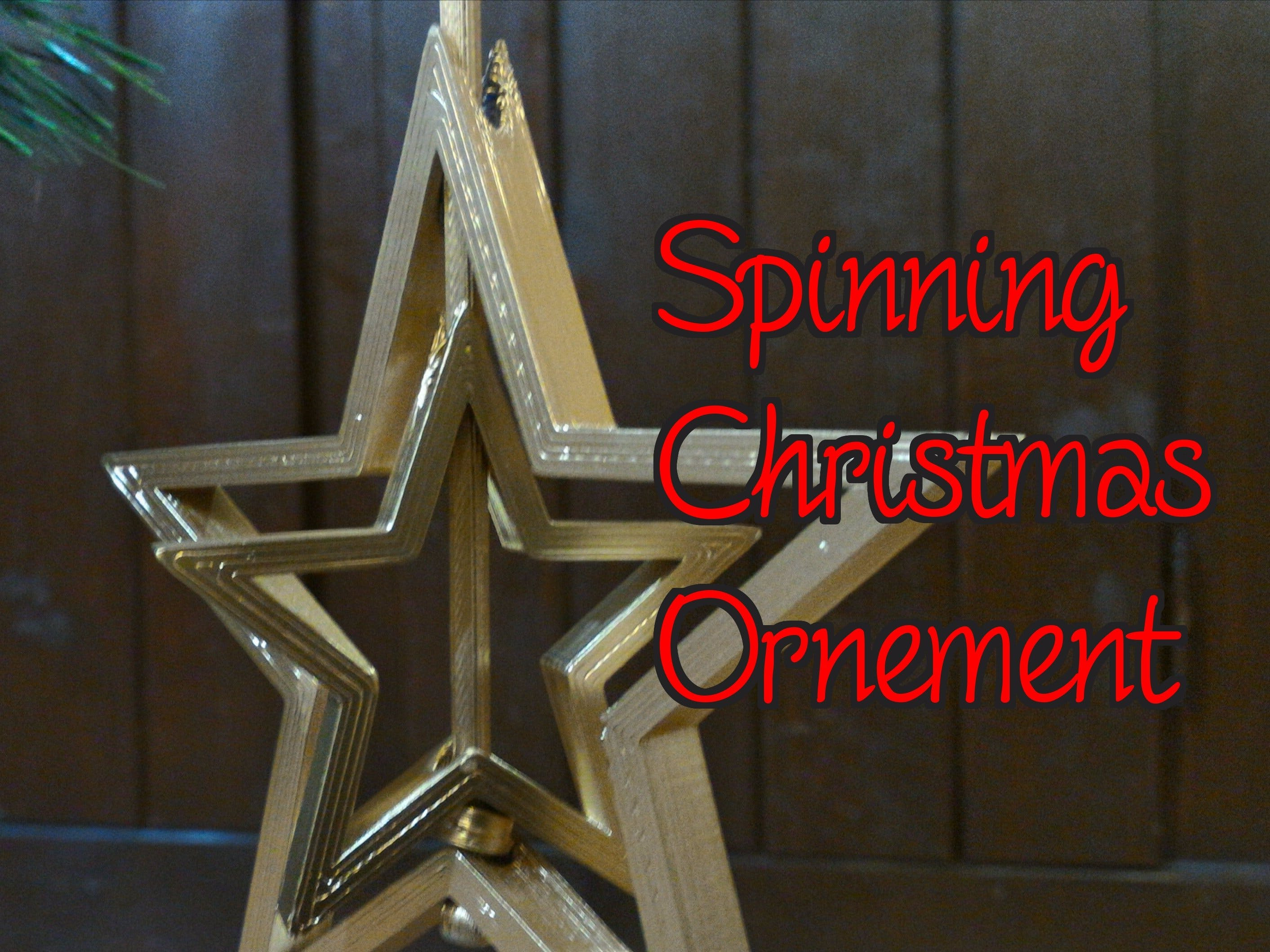 Simple Spinning Christmas Ornament