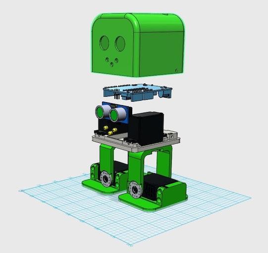 Robot zowi arduino : Tito arduino uno d printed robot project hub