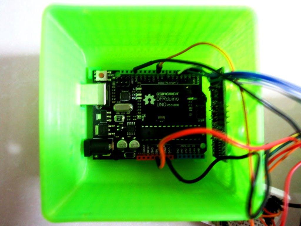 Using DFRduino which is same as Arduino UNO