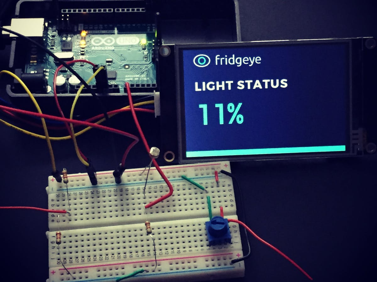 Build the Fridgeye App with a Nextion Display