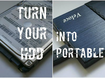Turn Your Old Hard Drive Into Portable HDD