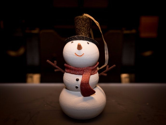 3D Print and Post Process - The Cutest Snowman Ever!