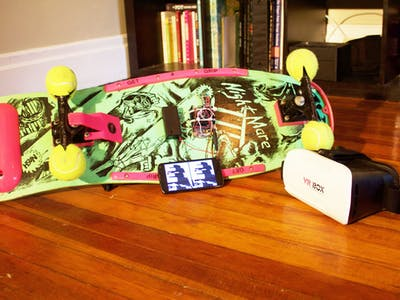 Hack Skateboard for Virtual Reality with Arduino