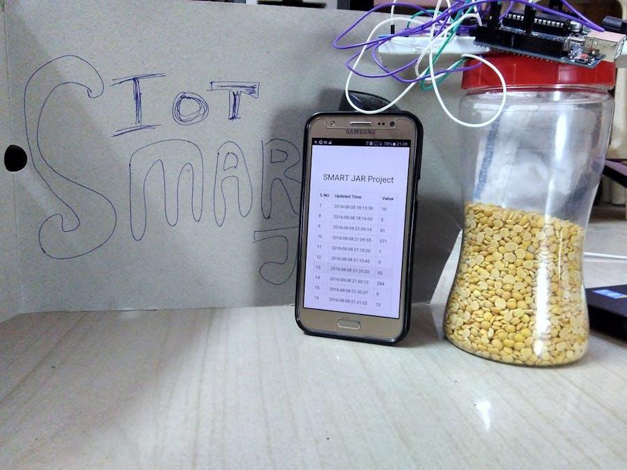 IOT - Smart Jar Using ESP8266, Arduino and Ultrasonic Sensor