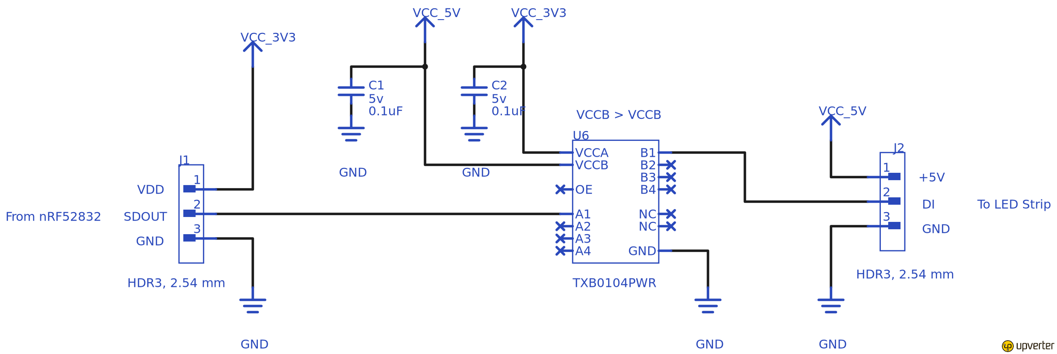 Bluetooth Controlled Led Light Strip Part 1 Of 2 Circuit Diagram 5v Power Supply Ensure The Have Enough Current For Leds N54tfampaspjy2nd73hd