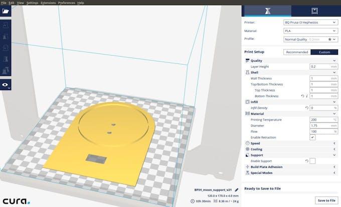 3d Printed Lunar Phase Clock Arduino Project Hub