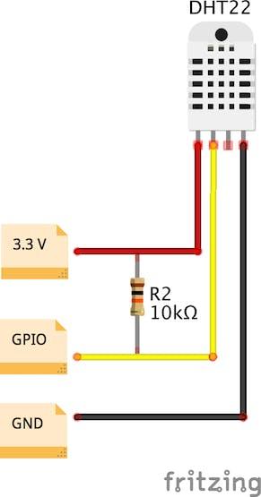 DHT22 Wiring Diagram