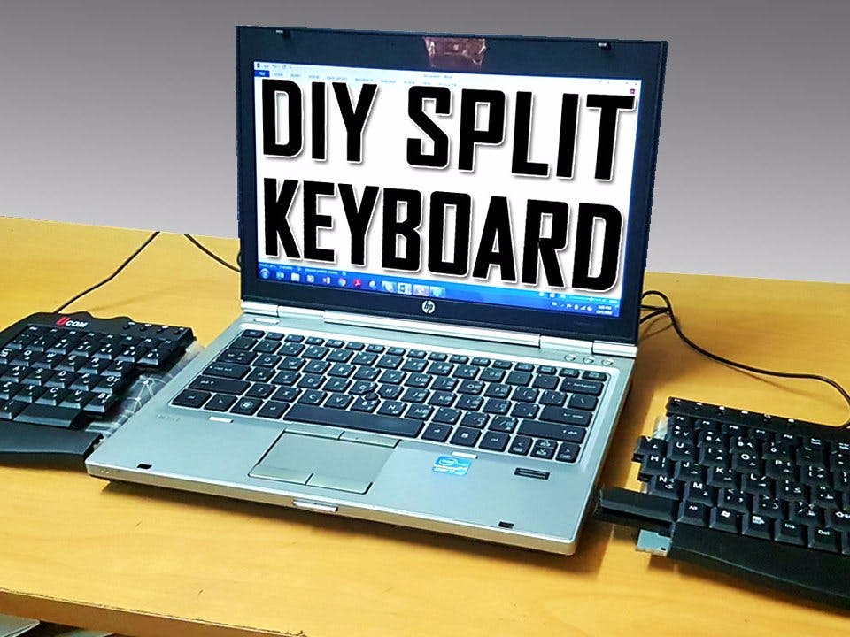 Make an Ergonomic Split keyboard for $20