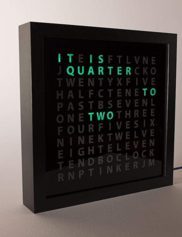 Tinker's Word Clock - Revisited! Now 110% more Awesome