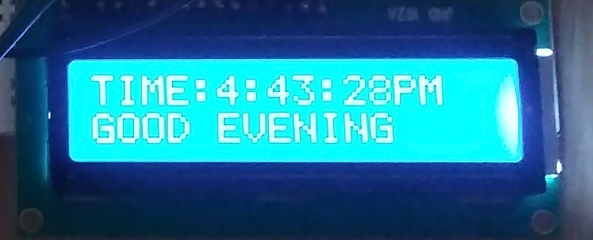Time and Message on LCD