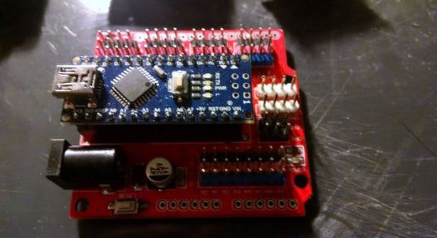 Arduino Nano on Expansion Board