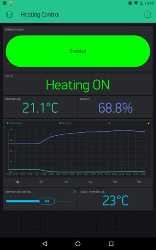 Blynk Heating Control UI