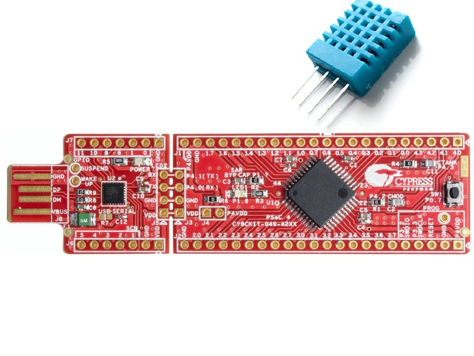 PSoC 4 Interface with DHT11