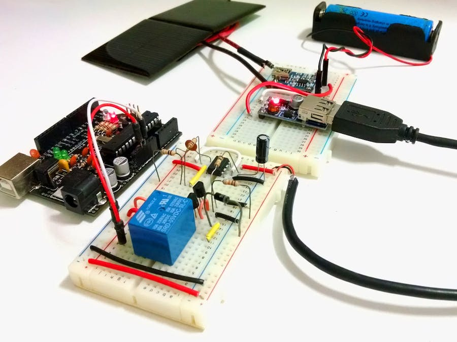 Solar Charged Battery Powered Arduino Uno - Hackster io