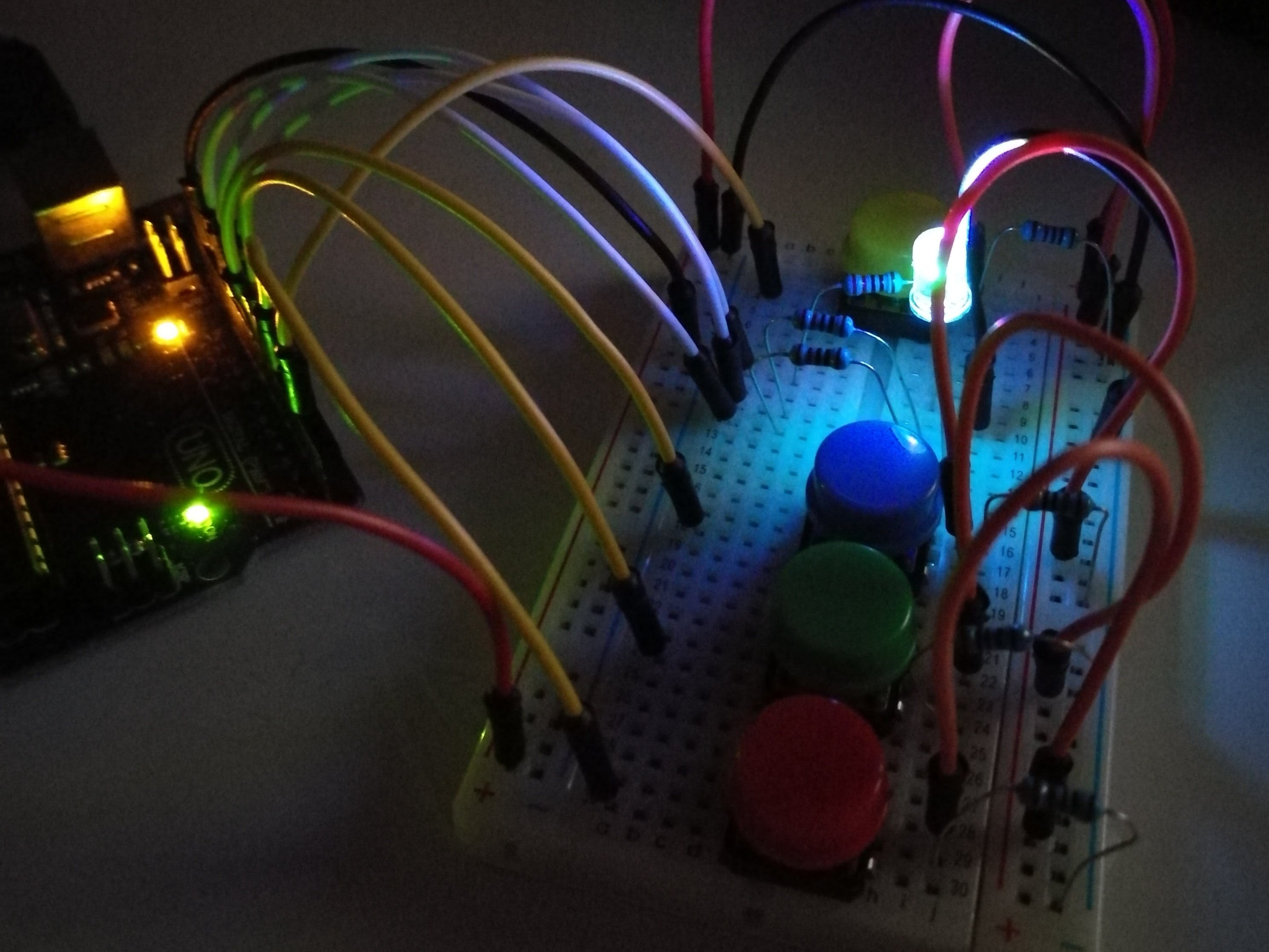 RGB led button controller
