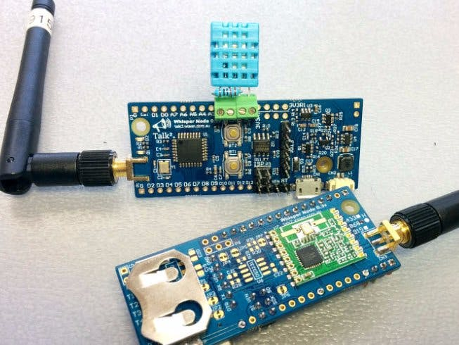 Temp  And Humidity Sensor With A CR2032 For Over 1 Year