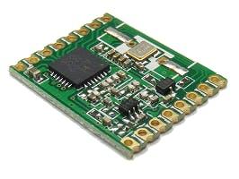 RFM69W is a sub-GHz digital RF module, better option for low-power applications.