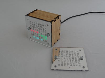 WordClock with Two 8x8 Character Faces