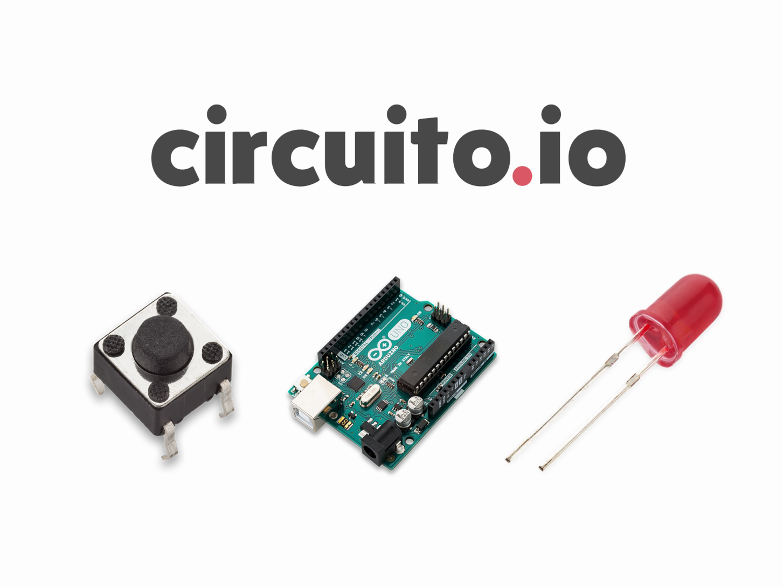 Circuito Io : Connect a button and led to arduino with circuito arduino