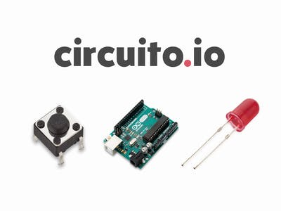 Connect a button and LED to Arduino with circuito.io